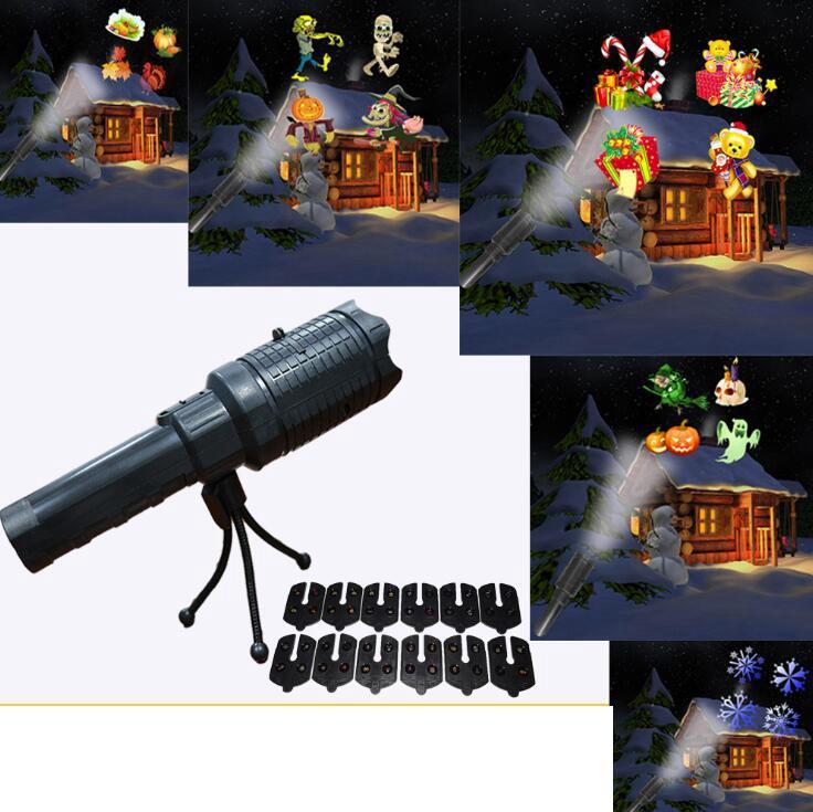 Décoration Ooa5938 À D'halloween Poche Lampe 12 Coulissantes Pour Noël Intérieure Muiltifuction Projection De Cartes La Led Avec m0vnN8w