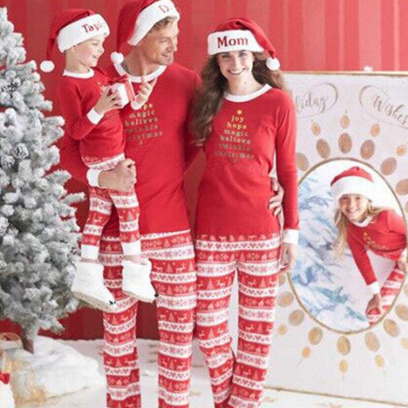 Compre 2018 Ano Nuevo Familia Navidad Pijamas Traje A Juego De La