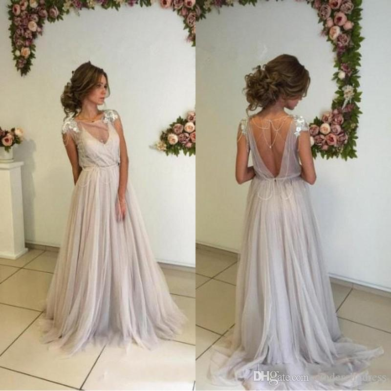 Discount New Boho Wedding Dresses 2018 Bohemian Bridal Gowns With