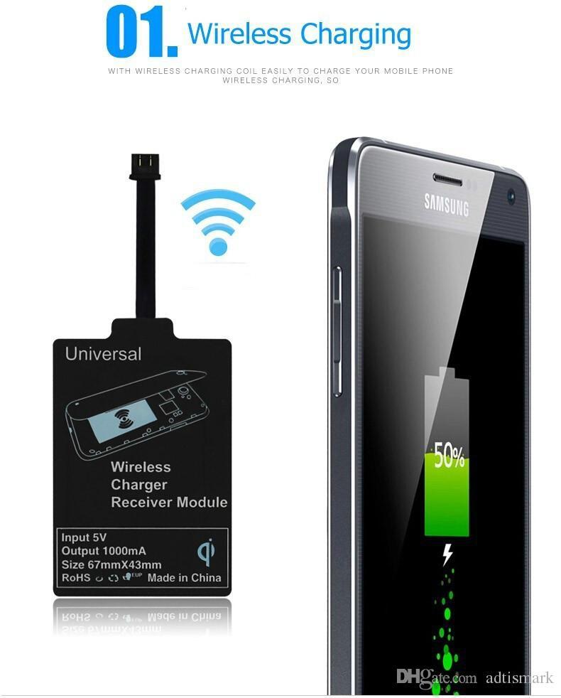 Comercio al por mayor Nuevo Módulo Receptor Qi Inalámbrico para iPhone Receptor Adaptador de Carga Inteligente para Android Transmisor Inalámbrico
