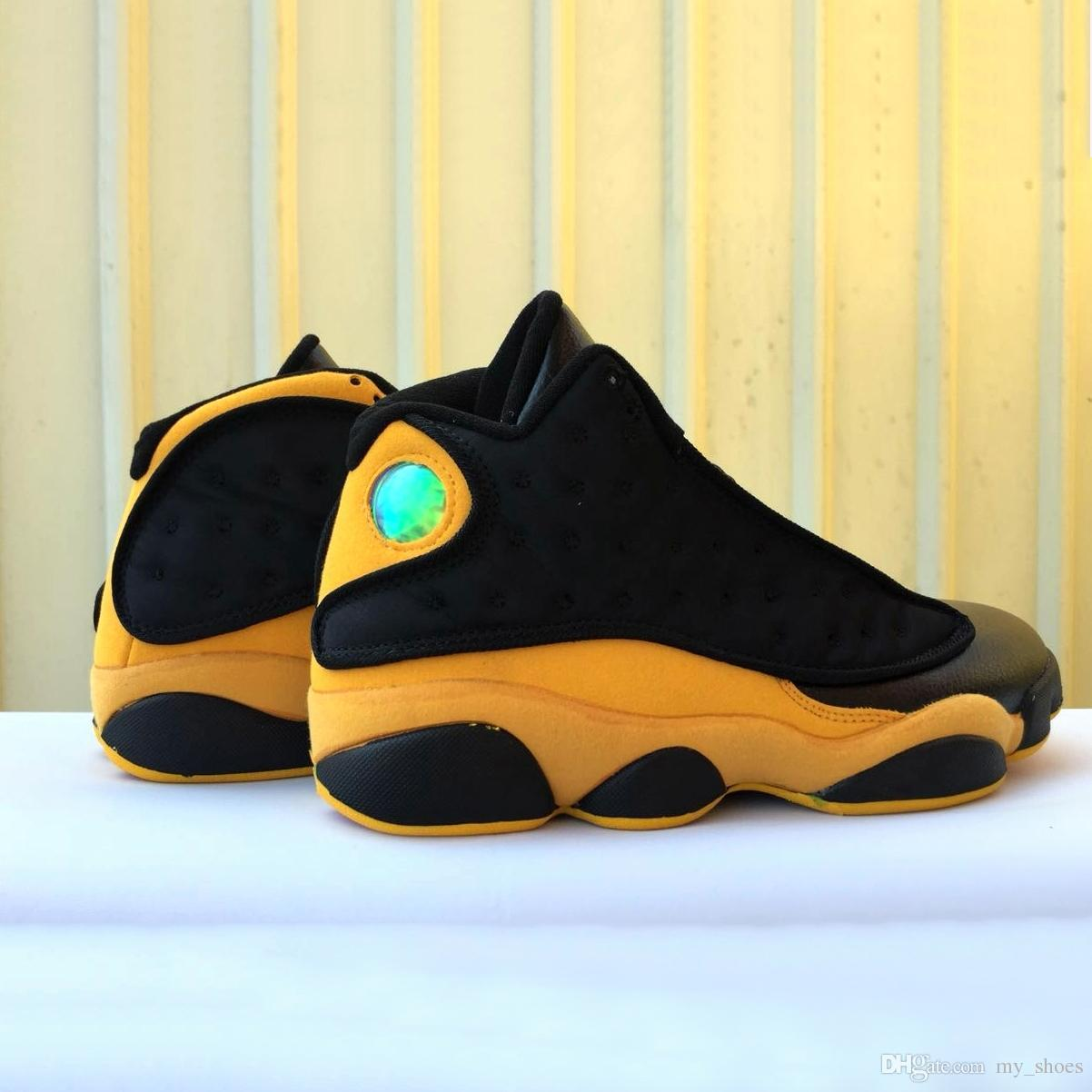 eb323290b82b60 2019 2018 New Sneaker 13 Melo Class Of 2003 Men Basketball Shoes Black  Yellow Outdoor Casual 13s Athletic Sports Sneakers Size US8 13 From  My shoes