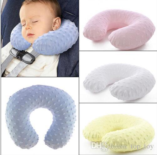 Kids Neck Pillow Baby Car Inflatable Pillows Infant Cartoon U Shape Travel Air Filled Seat Cushion KKA3909 Reading