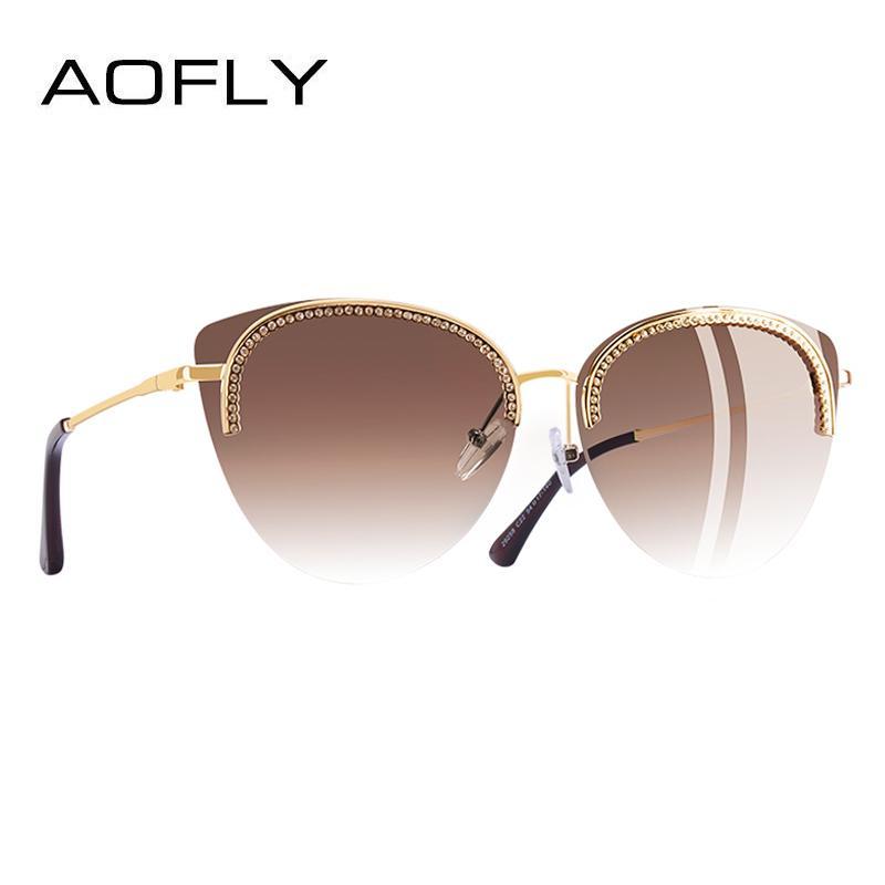 de6abfdf79787 Compre AOFLY MARCA DESIGN Óculos De Sol Para As Mulheres 2018 Óculos De Sol  Elegante Estilo De Luxo Decoração Shades Feminino Gafas De Sol A144 De  Linyicity ...