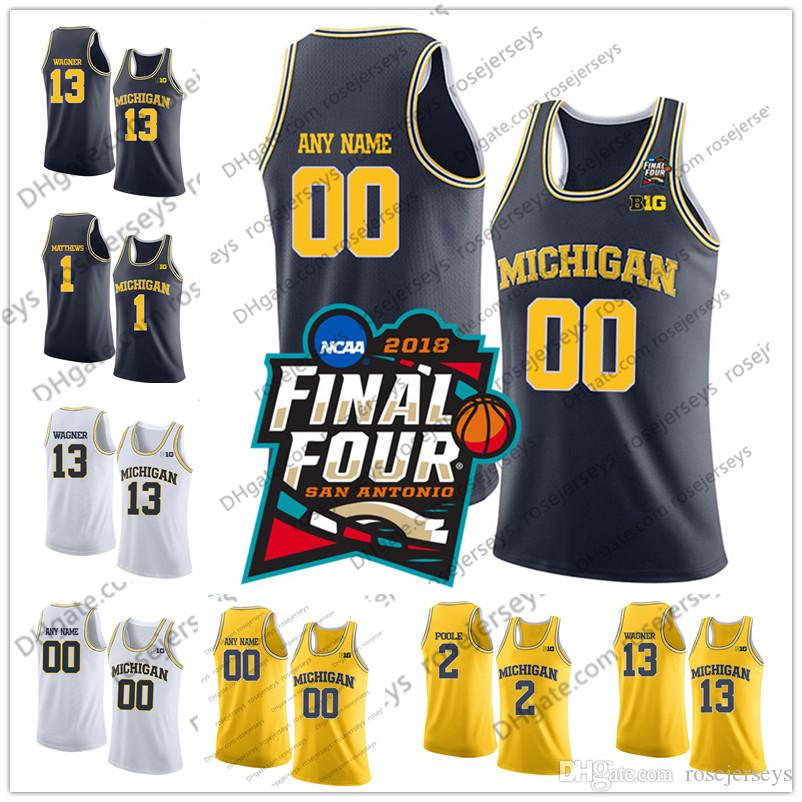 cd51a9ee0ec 2019 Custom Michigan Wolverines Basketball White Yellow Blue Any Name  Number Brazdeikis 15 Jon Teske 4 Isaiah Livers 22 Duncan Robinson Jerseys  From ...