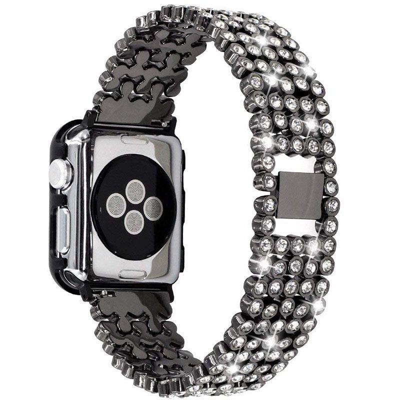 Bracelet Apple Watch Band 38mm Women Luxury Diamond Stainless Steel Strap  Wrist Belt Apple Watch Strap Series 3 2 1 Watch Bands Online Watches Bands  From ... af6fd6f1e