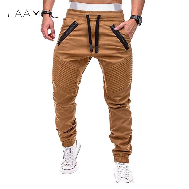 Acquista Pantaloni Sportivi Laamei Pantaloni Da Uomo Pantaloni Pieghe  Lunghe Da Uomo Pantaloni Con Coulisse Pieghevole Patchwork Pantaloni Da  Jogging ... 40c7f4fd87ea