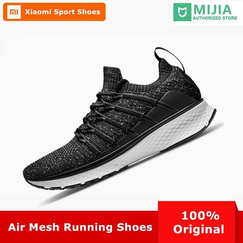 32daf3ec6 2019 2018 Original Xiaomi Mijia Men Smart Outdoor Sports Running Shoes  Fishbone Lock System Elastic Knitting Vamp Male Mi Sneakers From Superfeel,  ...