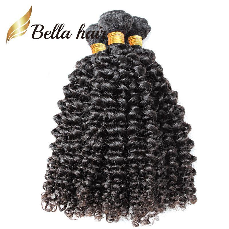 جودة عالية اللون الطبيعي البرازيلي مجعد الشعر البشري لحمة / 10-24inch الشعر ملحقات شحن مجاني Julienchina بيلا الشعر