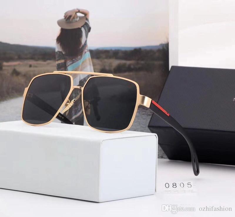 80bb0b6a99cd0 Großhandel 2018 Neue Luxus P0805 Sonnenbrille Für Frauen Design Prada P0805 Mode  Sonnenbrillen Wrap Sunglass Coating Lens Bestseller Sommer Stil Schutz ...