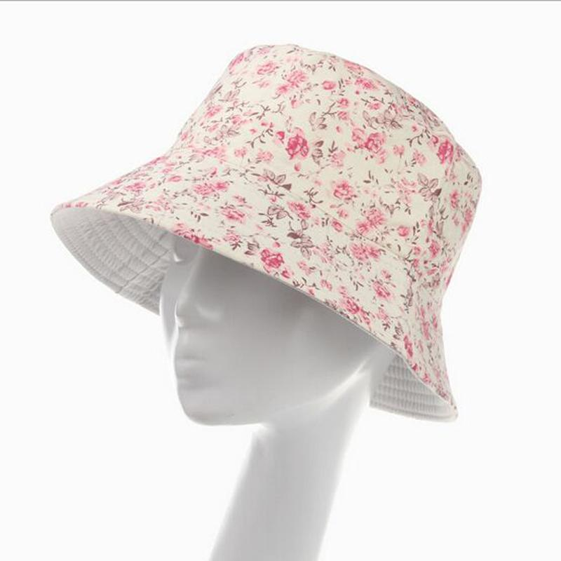 Flowers Print Cute Chapeu Feminino Bucket Hat Women Summer Outdoor Sun Caps  For Girls 10 Models For Choose Mens Straw Hats Mens Hat Styles From  Rainbowwo e52070f7a