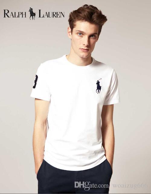 481fb6e997 Compre 2018 Camisetas Para Hombre Polos Moda Camisetas Casual Polo Ralph  Lauren Hombres Caballo Grande Blusas Bordadas Camiseta De Manga Corta  Camiseta De ...