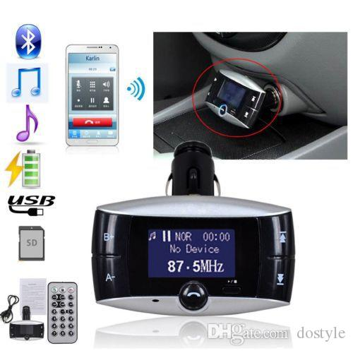 "1.5"" LCD Car Kit Bluetooth MP3 Player Music Player SD MMC USB Remote+Wireless FM Transmitter Modulator Car charger for Cellphone"