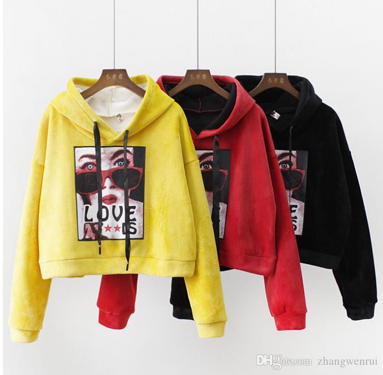 50967333cb0 2019 2018 Casual Hoodie Sweatshirt Women Hoodies Hooded Long Sleeve Women  Tops Tees Girls Hoodies Girls Sweatshirt Womens Clothes From Zhangwenrui