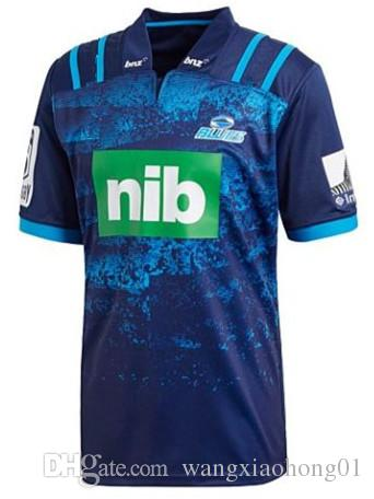 23b47b87796 2018 Blues Super Rugby Training Jersey New Zealand Blues Rugby Jerseys  Shirt Clothes Super Stormers Blue Shirts Size S-M-L-XL-XXL- 3XL New Zealand  Australia ...