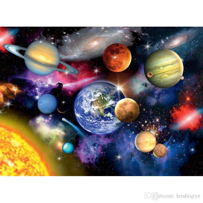Tam Kare / Yuvarlak matkap 5D DIY Elmas nakış Uzay gezegen Elmas Boyama Çapraz Dikiş Taklidi Mozaik dekorasyon
