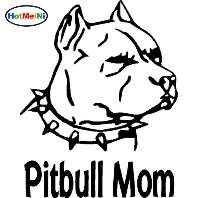 2019 Wholesale Car Accessories Pitbull Mom With Spiked Collar Vinyl