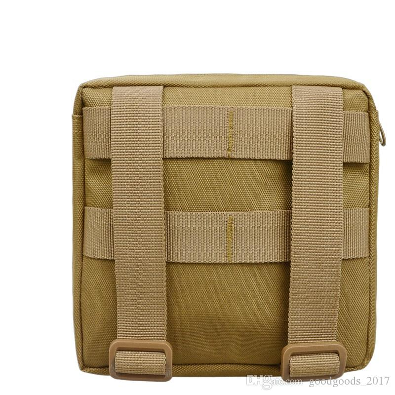 Outdoor Empty Bag for Emergency Bag Tactical Medical First Aid Packets Kit Waist Pack Camping Travel Tactical Molle Pouch Khaki Black mk0420
