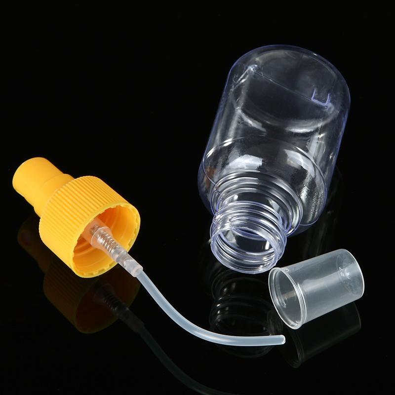 2 Unids 60 ml Botella de Aerosol Vacía Peluquería Botella Recargable Perfume Transparente Portátil Perfume Hidratante Rociador Herramientas