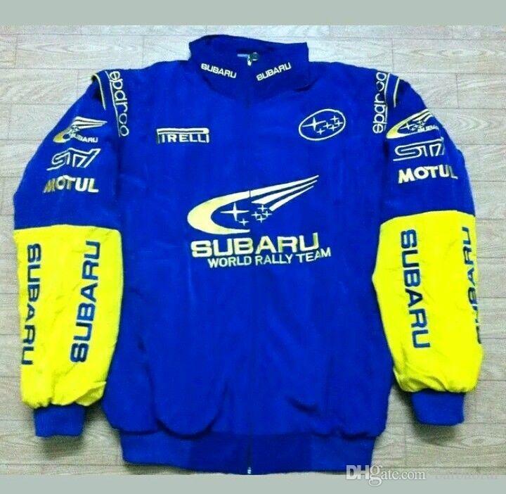 2018 costume de veste de course de moto de Nascar Moto Subaru coton de broderie