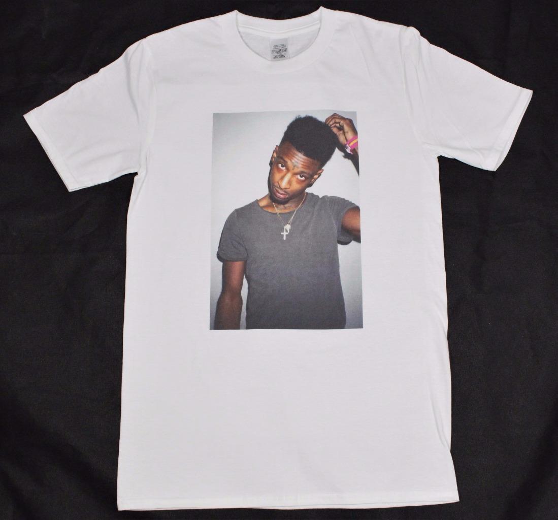 Grosshandel 21 Savage White T Shirt S Xxxl Schwarz Und Weiss Nach