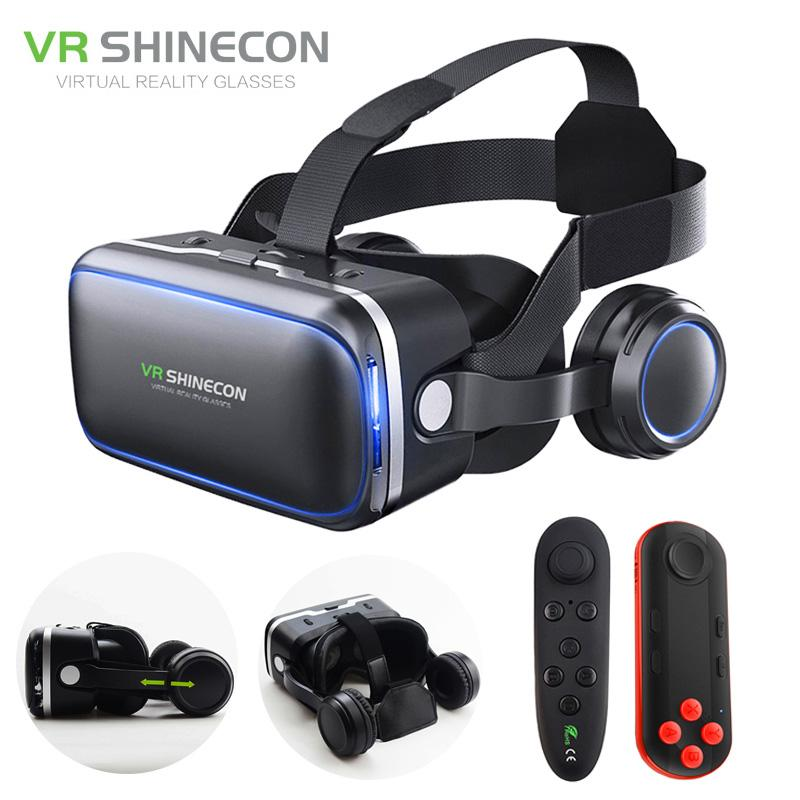 691757a161b VR Shinecon 6.0 Pro Stereo VR Headset Virtual Reality Helmet Smartphone 3D  Glasses Mobile Google BOX + Headphone For 4 6  Phone 3d Technology Without  ...