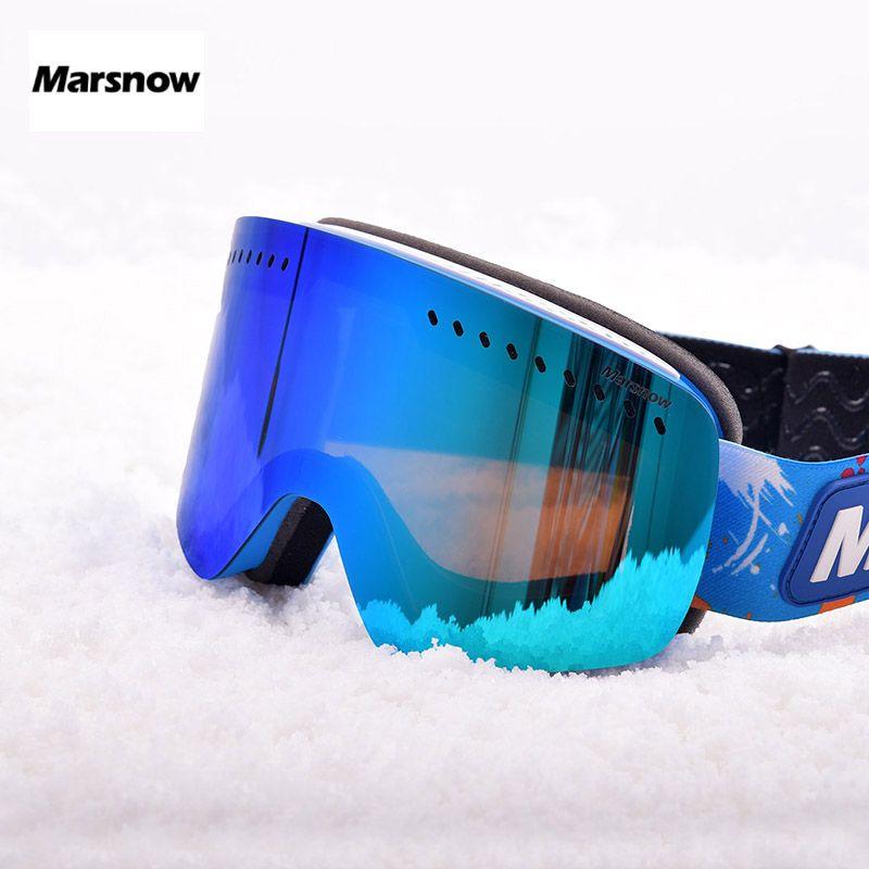 914edd6e4fa 2019 Marsnow Ski Goggles Kids Double Layer Lens Glass Mask UV400 Anti Fog  Ski Snow Children Skiing Glasses Winter Girls Boys Eyewear From Raisins