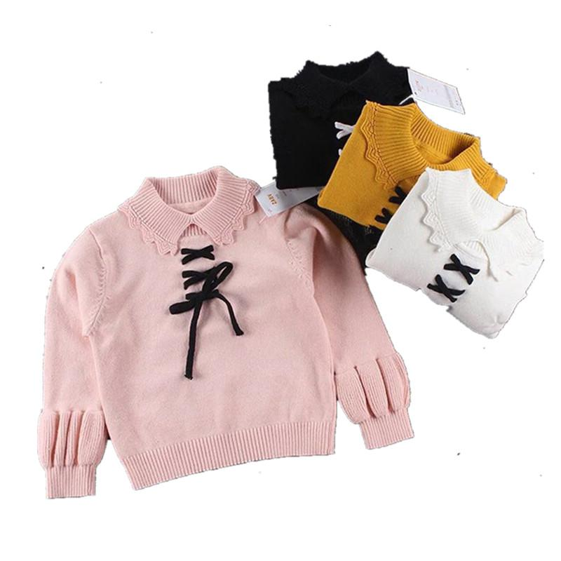 c08a24e9bc19 Funfeliz Sweaters for Girls Solid Color Turtleneck Sweater for Kids ...