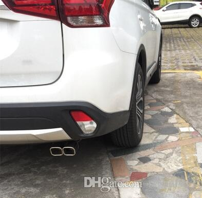 High quality stainless steel car double tube mufflers,Exhaust pipe outlet decoration,silencer for Mitsubishi outlander 2013-2019