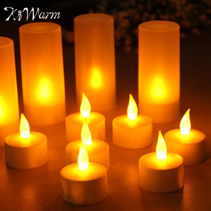 Lights & Lighting 100% Quality 12pcs/set Remote Controlled Led Candles Flickering Frosted Rechargeable Tea Lights/electronics Candle Lamp Wedding Pary Light