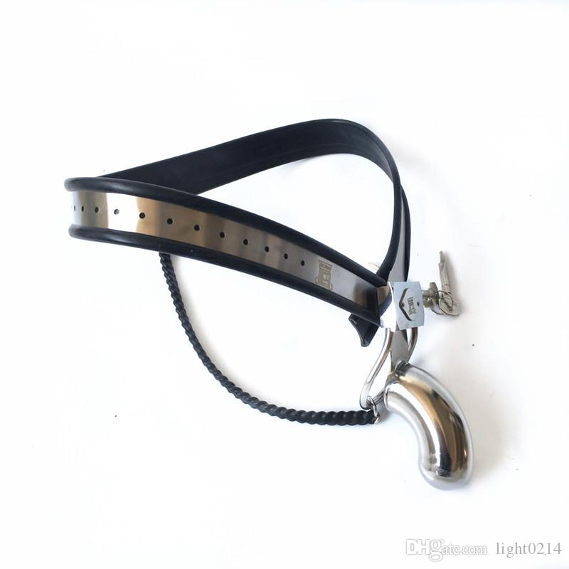 Male Chastity Belt Adjustable Waist Belt Chastity Device Penis Cage Restraint Chastity Lock Sex Toys for Men G7-4-47