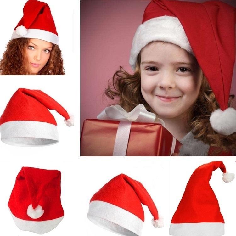 Großhandel Neue Kinder Rote Weihnachtsmann Hüte 27 * 37cm ...