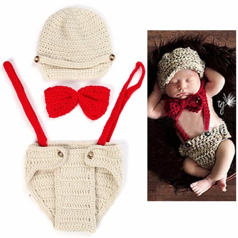 Compre Bebé Recién Nacido Niña Foto Fotografía Prop Foto Ganchillo ...