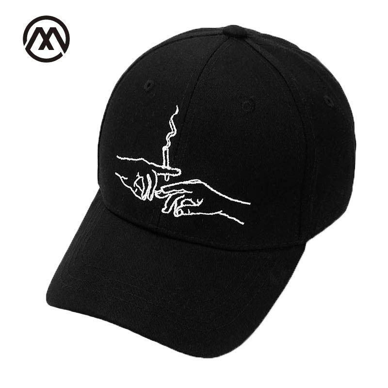 2017 New Brand Smoke Baseball Cap Dad Hat For Men Women Embroidery Hands  Smoke Pattern Trucker Cap Bone Golf Baseball Hat Trucker Hats Flexfit From  Fengyune ... d4a5c94e874