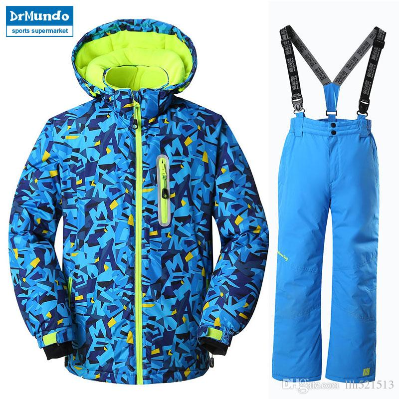 1843638d0d 2019 2018 NEW Boys Ski Jackets Suits Kids Snowboard Jackets Suit Winter  Mountain Skiing Clothes Coat Snow Waterproof Outdoor Children Ski Set From  Llh521513 ...