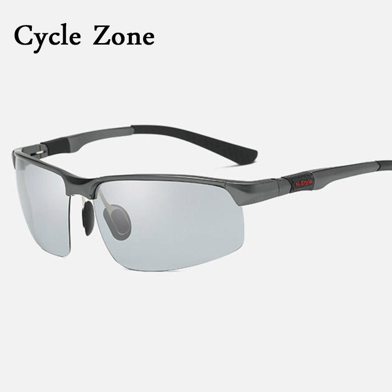 Cycle Zone Aluminium Magnesium Sport Sunglasses Men Women's Photochromic Cycling Glasses Polarized Bike Bicycle Goggles Oculos