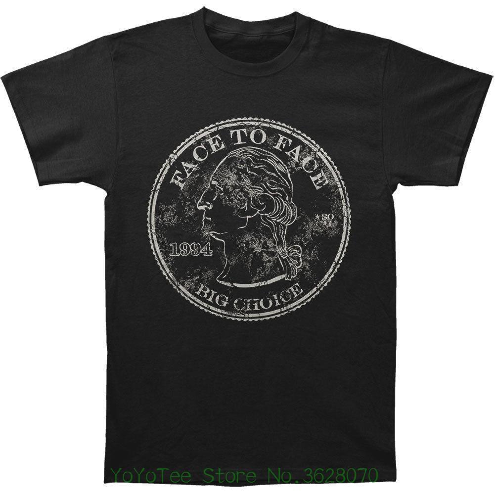 Choice S Big A Black Hipster ; Cara Camiseta Tee Medium Hombre Ropa Harajuku Marca WYIE9DH2