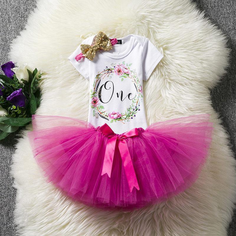 6e3f8702a Compre Ropa De Algodón Para Bebés 1 Año 1er Vestido De Cumpleaños Vestidos  De Fiesta Para Niña Niños Bautismo Vestido Tutu Trajes Con Diadema A $20.9  Del ...