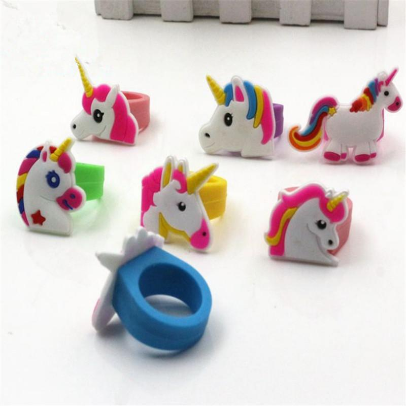 Unicorno Theme Party Unicorn Ring Child Rings Unicorn Party Favor Birthday Party Decorations Kids Wedding Gifts for GuestsS
