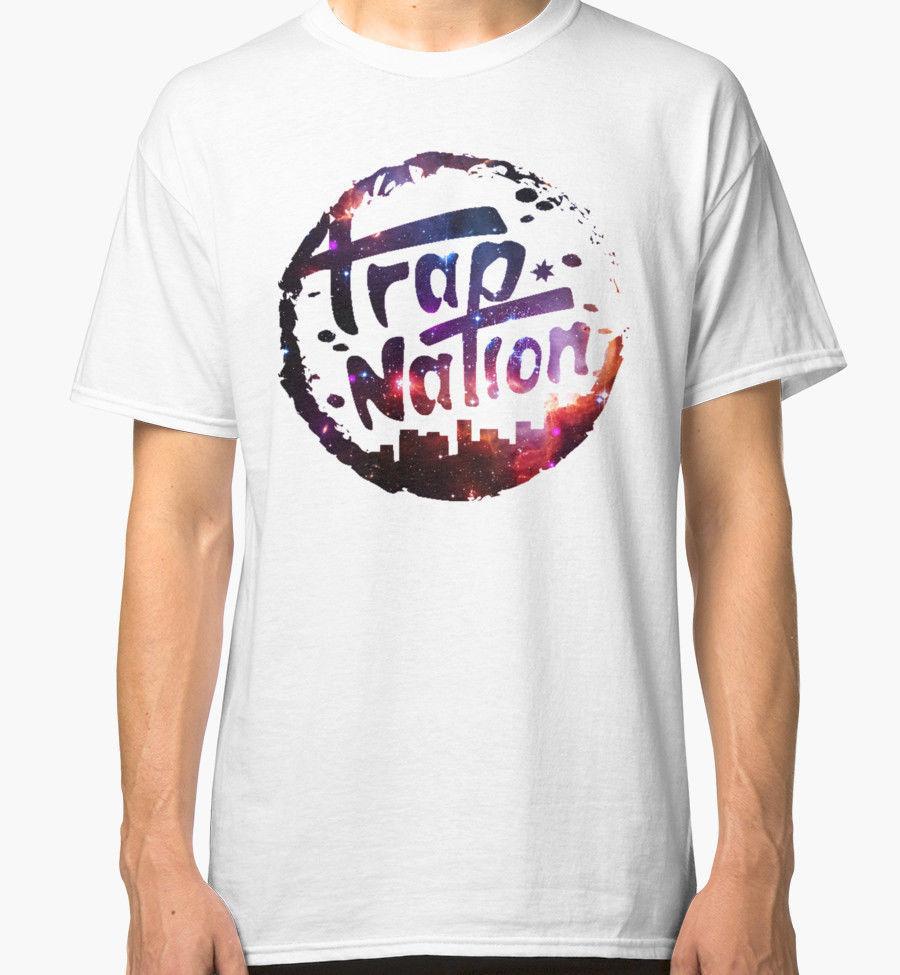 Compre Algodón Hombres Ropa Hombre Slim Fit Camiseta Trap Nation Casual  Manga Corta 2018 La Última Moda A  11.01 Del Qz2878193779  03602ee401e