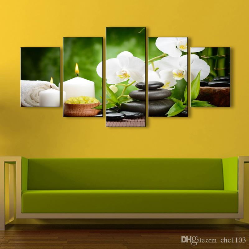 high-definition print orchid canvas oil painting poster and wall art living room picture PF5-005