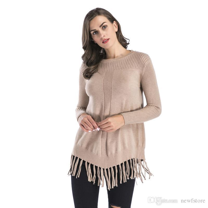 Großhandel 2018 Frauen Damen Pullover Rollkragenpullover Mode Winter ...