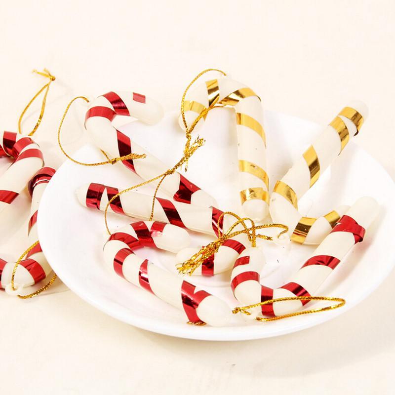 6 pcs enfeites de natal de cana doce festival festa natal árvore pendurado decoração de natal decoração suprimentos