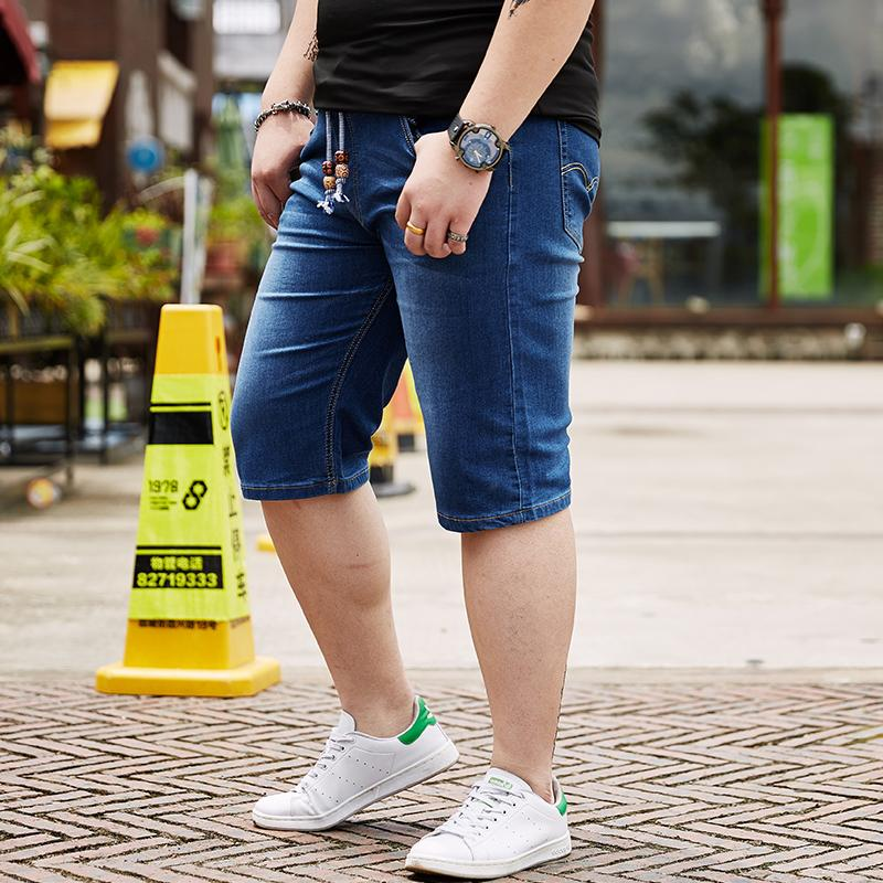 3cf09f0863 2019 Mens Plus Size 28 44 46 48 Jeans Shorts Stretch Deep/Light Blue Denim  Short Jean Big And Tall Trousers Pants For 150KG Men Wear From Baicao, ...
