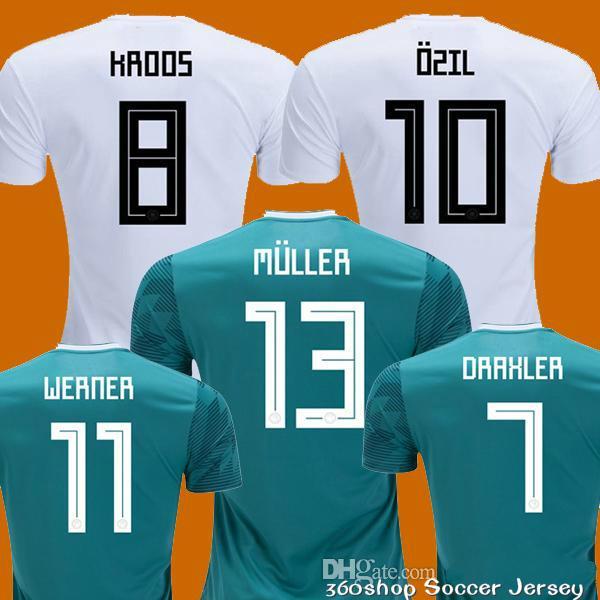MULLER OZIL Soccer Jersey DRAXLER 2018 WORLD CUP KROOS HUMMELS ... ac6108c87