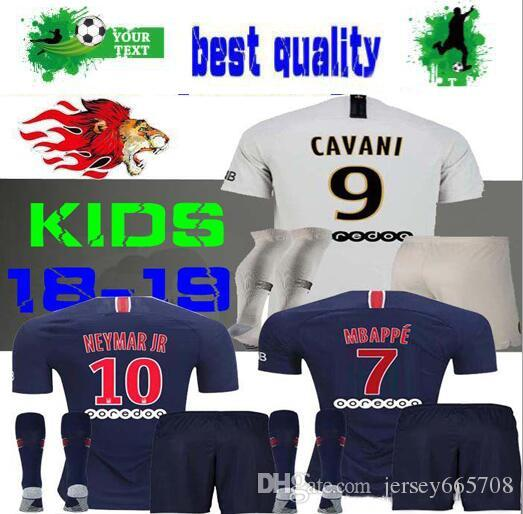 2018 2019 Paris Kids Kit Soccer Jerseys 18 19 Mbappe Home VERRATTI ... 6a37ec482