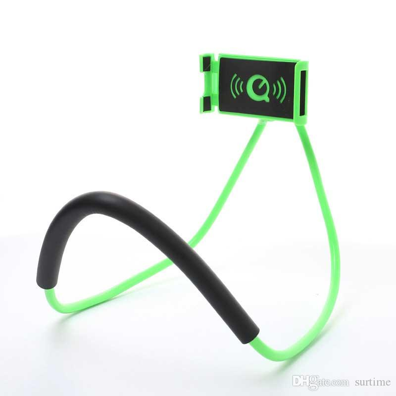 Soporte perezoso Universal Rotación de 360 grados Teléfono flexible Soporte para autorretrato Serpiente de cuello de cama Soporte antideslizante para