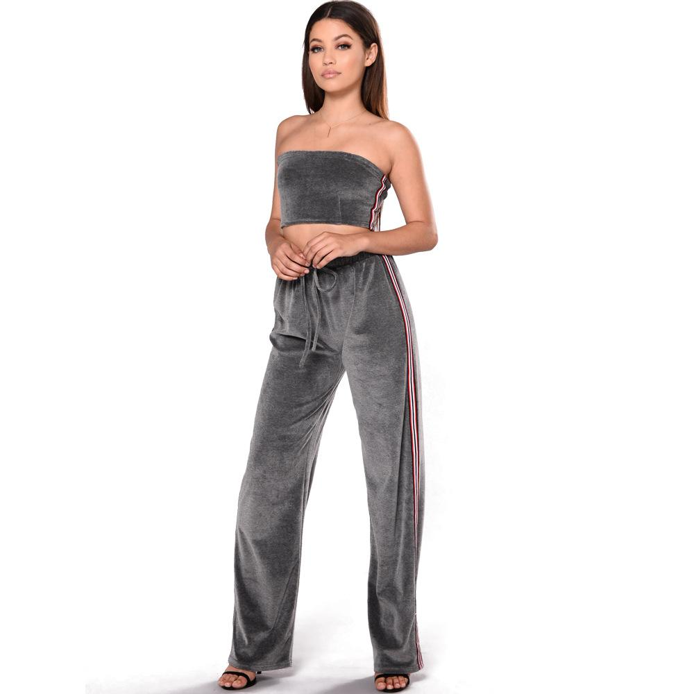 d1c7cde36f4a 2019 Zmvkgsoa Velvet Rompers Women Bodycon Casual Overalls Off Shoulder Womens  Jumpsuit Romper Club Combinaison Femme Y1842 From Elseeing