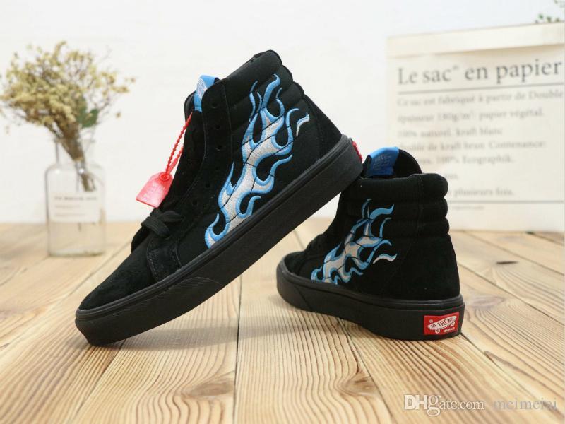 OG SK8 Hi LX skateboard shoes Waffle Lovers Club WATPS Vault 'flame' OG SK8  Hi LX old skool embroidered SHMACK Canvas shoes size us5 5-us10