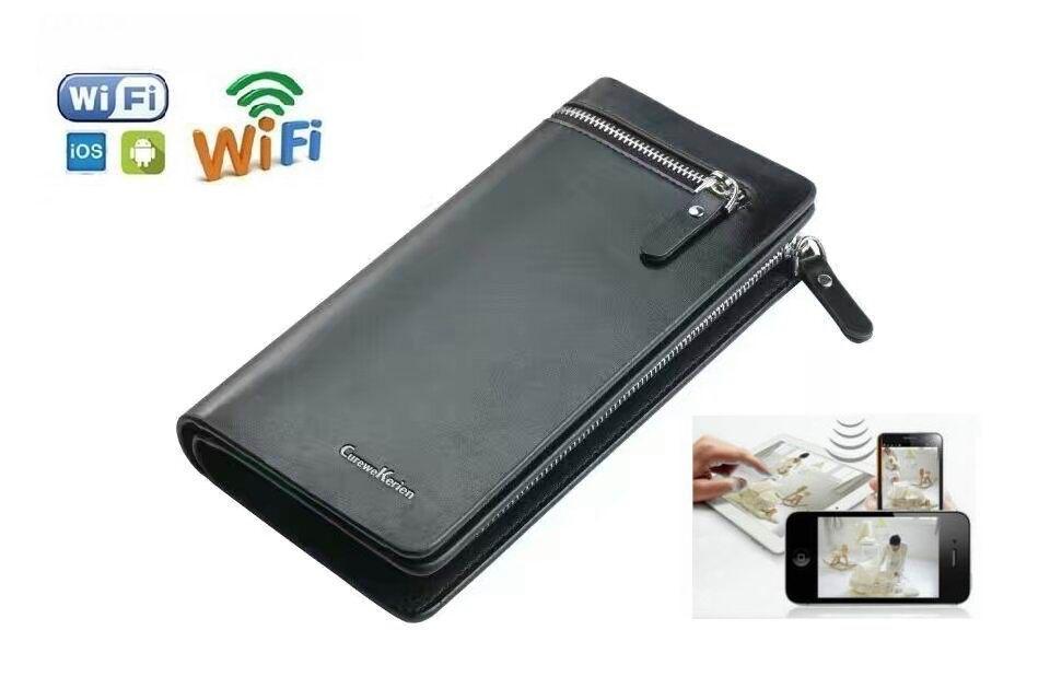 New WiFi Wireless HD 1080P Mini Camera Wallet Bags Camera Remote Control  Video Recorder Sport Mini DV P2P Cam