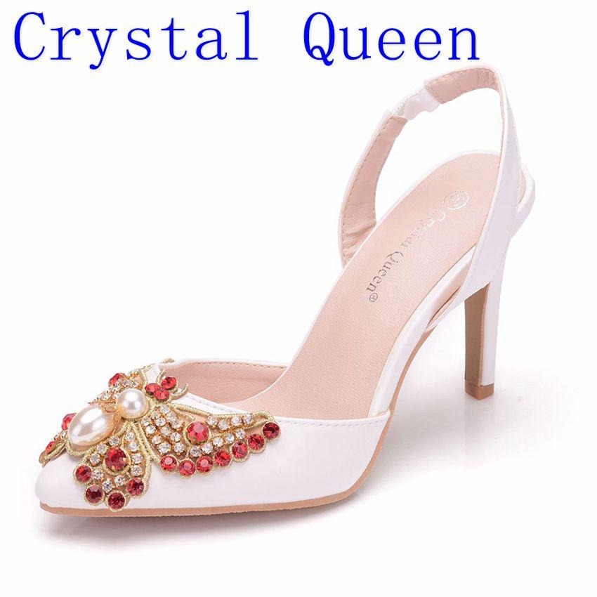 Wholesale Women Bridal Wedding Shoes Platform High Heel Red Rhinestone Bow Peep  Toe Bride Bridesmaid Ladies Prom Pumps 10CM Boots For Men Wedge Shoes From  ... 9256dccc76c2